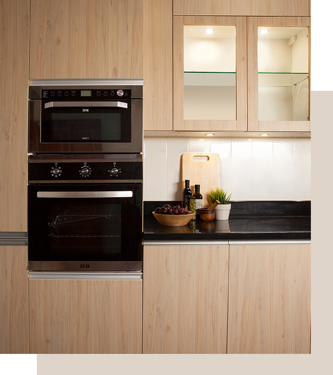 Finished IFB Modular Kitchen Projects