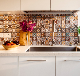 These tiles sure did make the kitchen come alive - Instagram Post - IFB Modular Kitchen