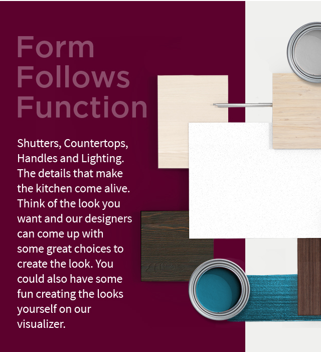 Shutters, Countertops, Handles and Lighting (Mobile) | IFB Finishes - IFB Modular Kitchen